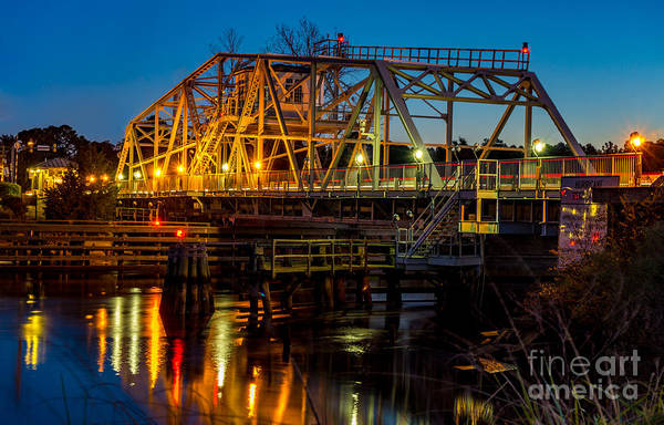 Little River Swing Bridge Art Print
