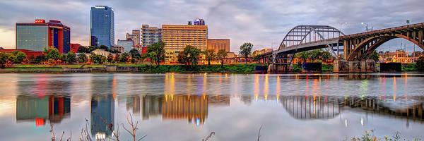 Photograph - Little Rock Arkansas Skyline Panoramic by Gregory Ballos