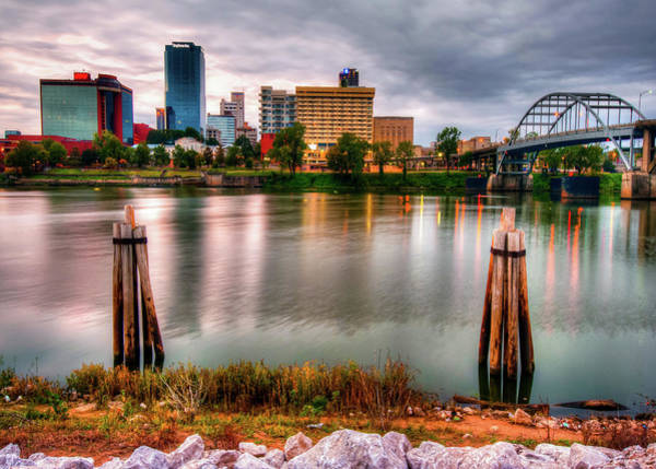 Photograph - Little Rock Arkansas Usa Skyline And River by Gregory Ballos