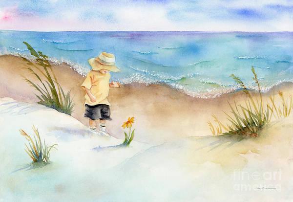 Black Beach Painting - Little Saint by Amy Kirkpatrick