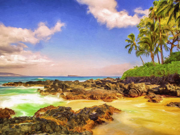 Painting - Little Secluded Maui Cove by Dominic Piperata
