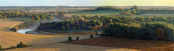 Drawing - Little Sioux Autumn Sunrise by Bruce Morrison