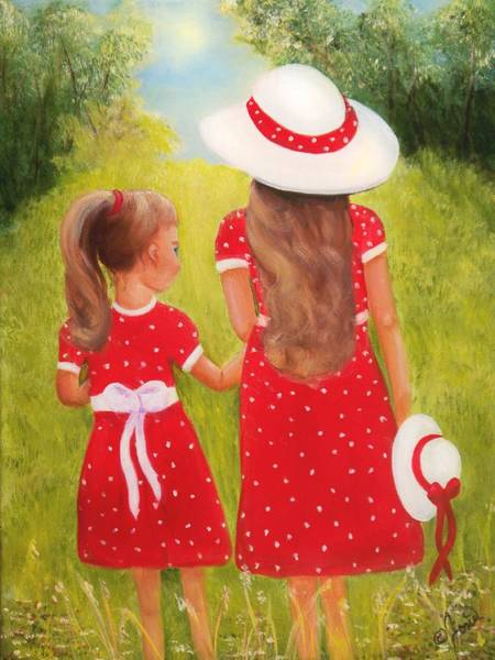 Painting - Little Sisters by Joni McPherson
