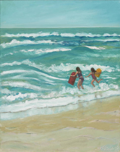 Painting - Little Surfers by Laura Lee Cundiff