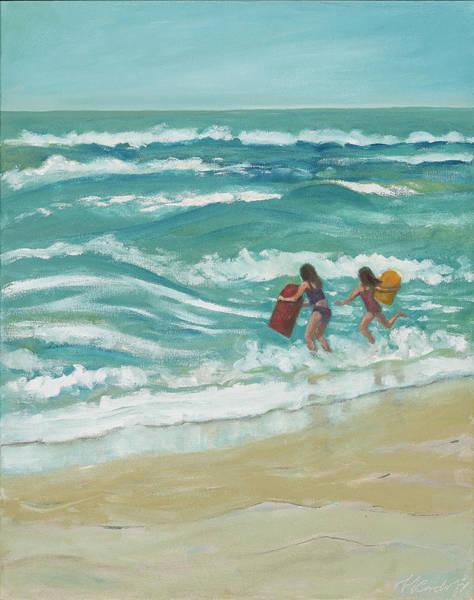 Little Surfers Art Print