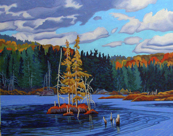 Wall Art - Painting - Little Tamarack Isle Algonquin by Paul Gauthier