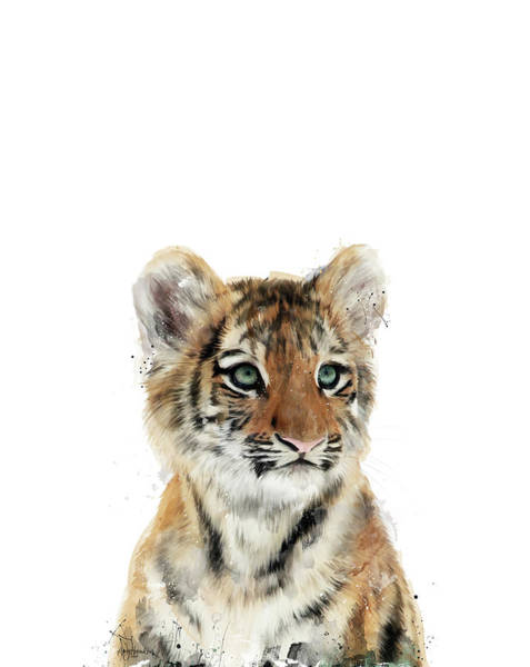 Baby Painting - Little Tiger by Amy Hamilton