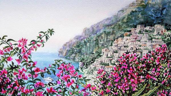 Painting - Little Town Positano Italy by Irina Sztukowski