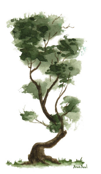 Wall Art - Painting - Little Tree 132 by Sean Seal