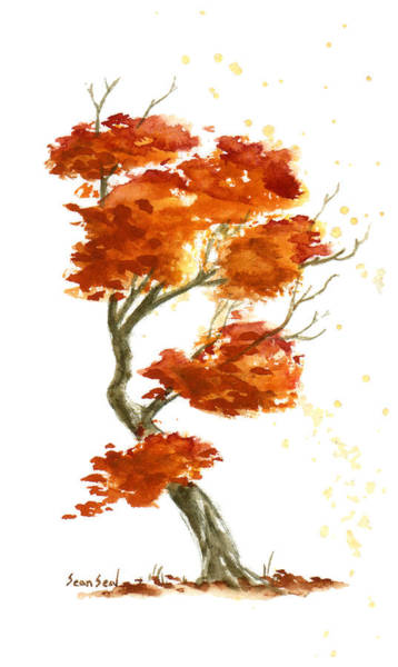 Wall Art - Painting - Little Tree 28 by Sean Seal