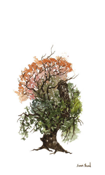 Wall Art - Painting - Little Tree 71 by Sean Seal