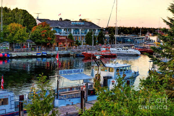 Photograph - Little Tub Harbor In Tobermory, Ontario by Les Palenik