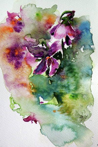 Violet Painting - Little Violet by Kovacs Anna Brigitta