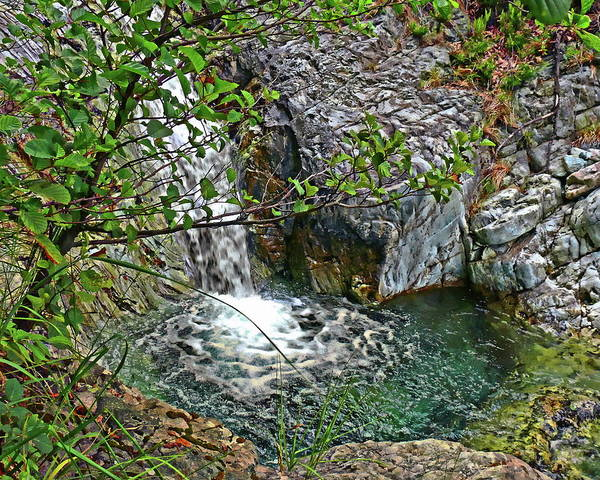 Photograph - Little Waterfall by Anthony Dezenzio