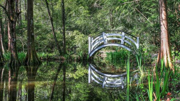 Photograph - Little White Bridge At Magnolia Plantation And Gardens by Carol Montoya