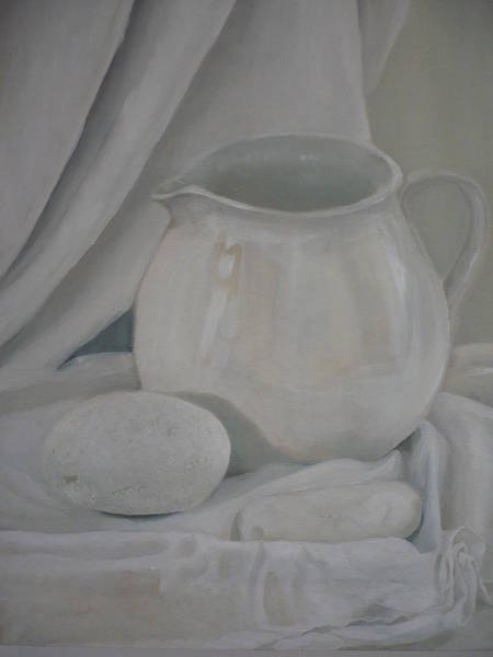 Painting - Little White Jug by Caroline Philp
