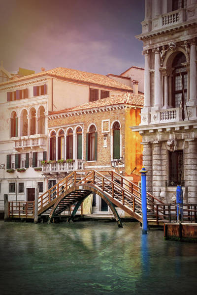 Little Italy Photograph - Little Wooden Footbridge In Venice Italy  by Carol Japp
