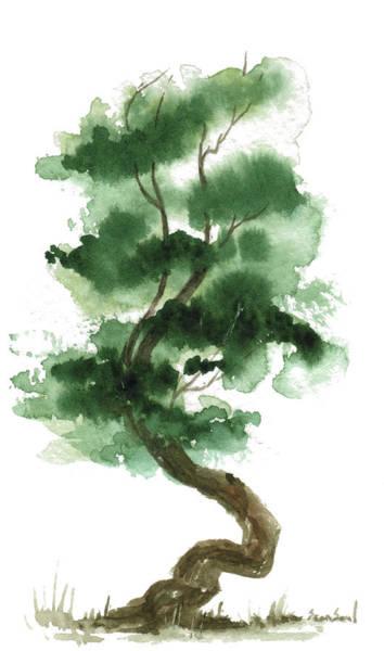 Wall Art - Painting - Little Zen Tree 151 by Sean Seal
