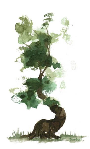 Wall Art - Painting - Little Zen Tree 154 by Sean Seal