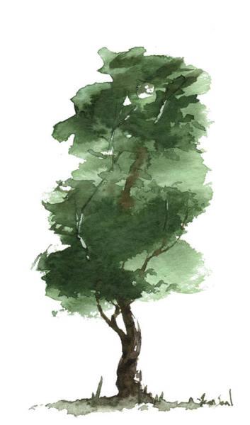 Wall Art - Painting - Little Zen Tree 161 by Sean Seal