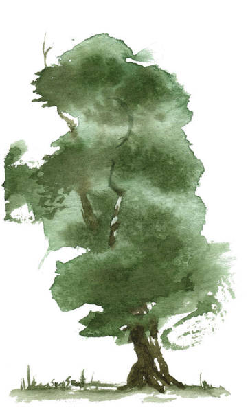 Wall Art - Painting - Little Zen Tree 162 by Sean Seal