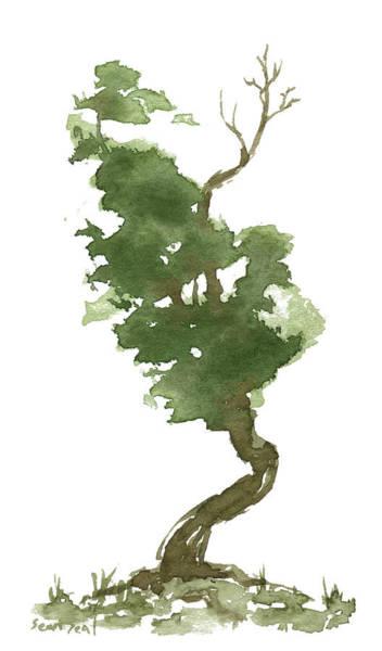 Wall Art - Painting - Little Zen Tree 177 by Sean Seal