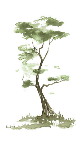 Wall Art - Painting - Little Zen Tree 204 by Sean Seal