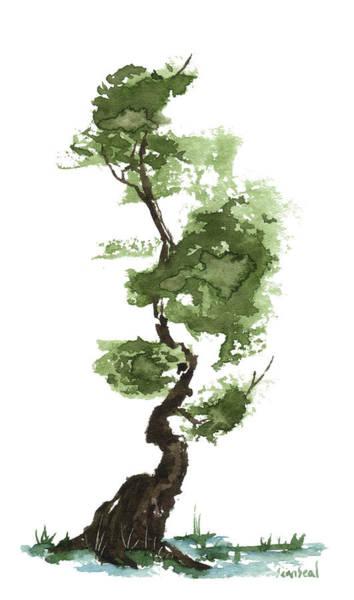 Wall Art - Painting - Little Zen Tree 207 by Sean Seal