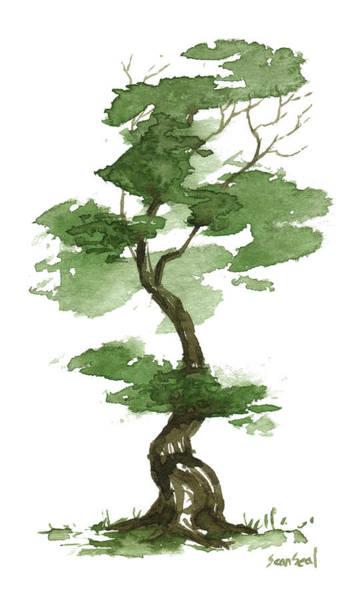 Wall Art - Painting - Little Zen Tree 208 by Sean Seal
