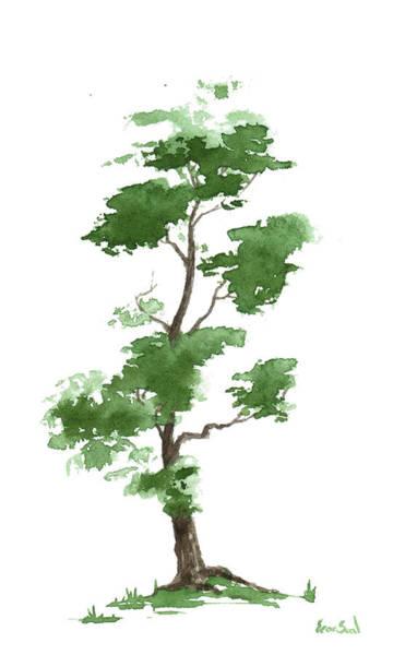 Wall Art - Painting - Little Zen Tree 300 by Sean Seal