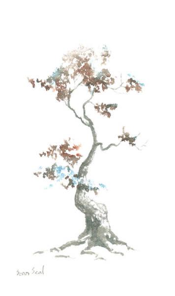 Wall Art - Painting - Little Zen Tree 444 by Sean Seal