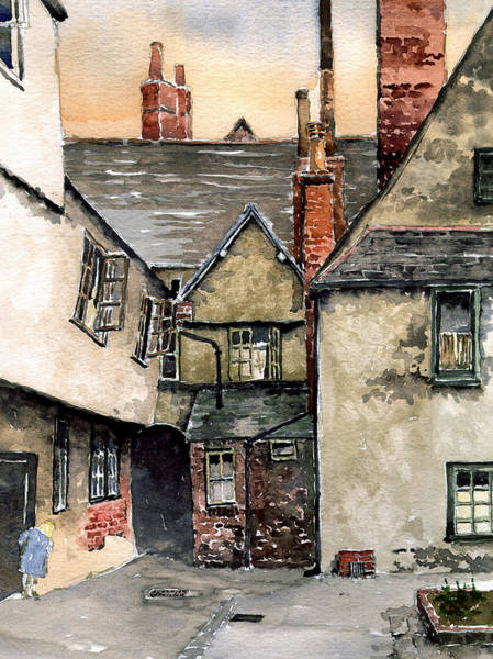 Half Timbered Painting - Littlemore Court. Oxford. by Mike Lester