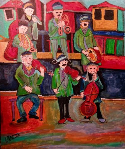 Klezmer Band Wall Art - Painting - Litwak Klezmer Band by Michael Litvack
