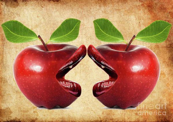 New Leaf Mixed Media - Live Apples by Prar Kulasekara