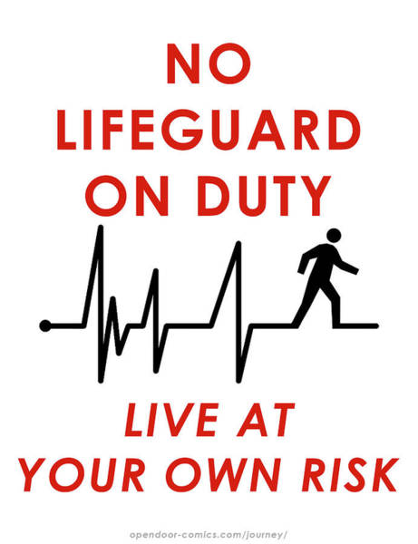 Live At Your Own Risk Art Print by Jon Maki