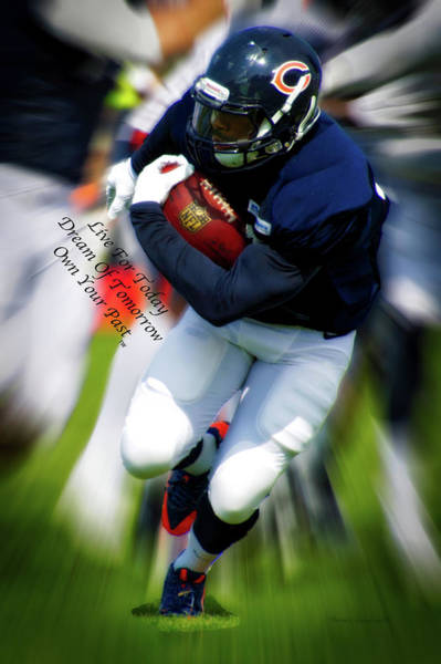 Wall Art - Photograph - Live Dream Own Chicago Bears Vertical Text by Thomas Woolworth