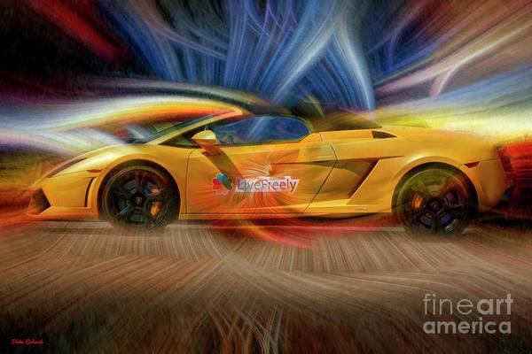 Photograph - Live Freely Lp550-2 Lamborghini by Blake Richards