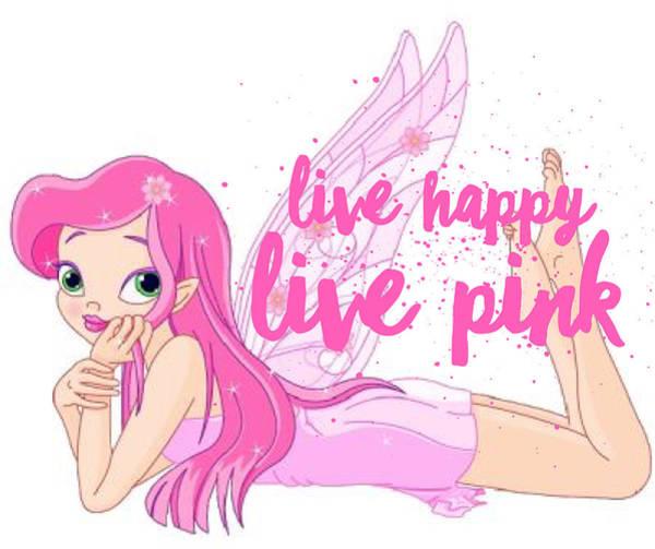 Color Digital Art - Live Happy Test by The Pink Princess Shop