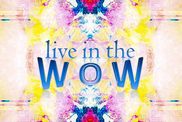 Live In The Wow Art Print