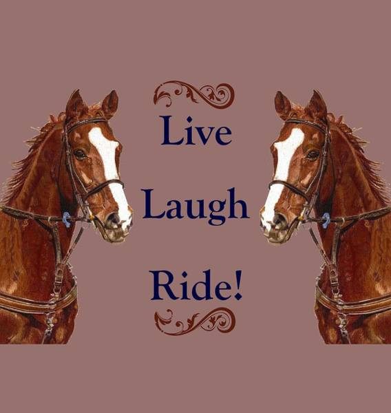 Mixed Media - Live, Laugh, Ride Horse by Patricia Barmatz