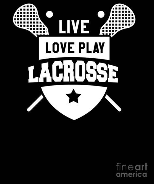 Lax Digital Art - Live Love Lacrosse Lacrosse Player Pocket Lax by Henry B