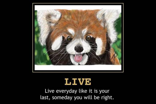 Digital Art - Live Motivational by Darren Cannell