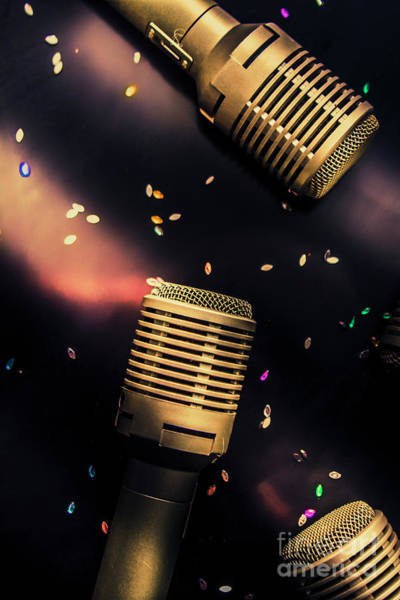 Microphone Photograph - Live Musical by Jorgo Photography - Wall Art Gallery