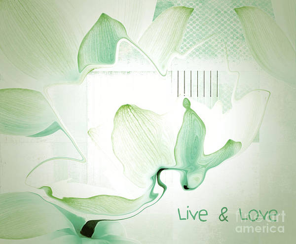 Wall Art - Digital Art - Live N Love - Absf12 by Variance Collections