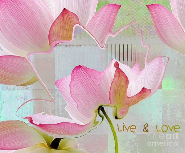Pastel Digital Art - Live N Love - Absfl23b by Variance Collections