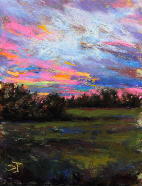 Pastel - Live Oak Evening by Susan Jenkins