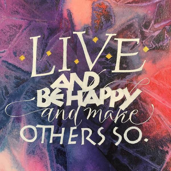 Painting - Live by Sally Wightkin