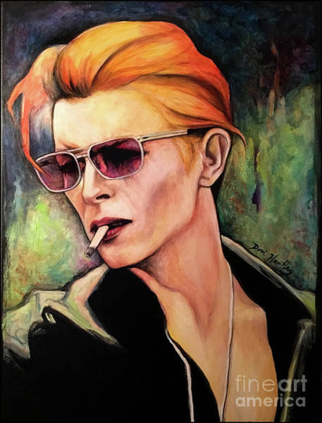 David Bowie Painting - Live Wire by Dori Hartley