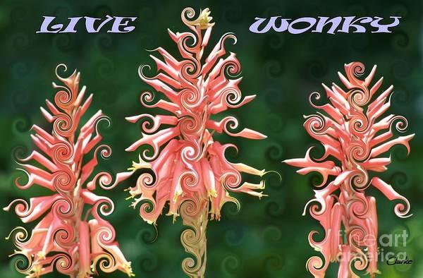 Digital Art - Live Wonky by Jean Clarke