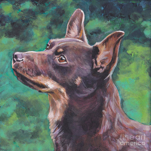 Liver Painting - Liver Lancashire Heeler by Lee Ann Shepard